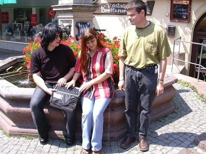 Andy mit 2 Freunden in Altstadt